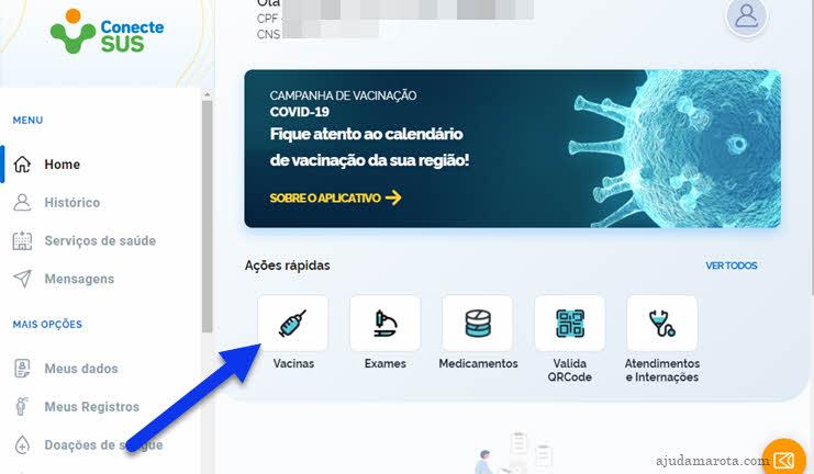 Emitir certificado vacinação Covid pelo site ConecteSUS