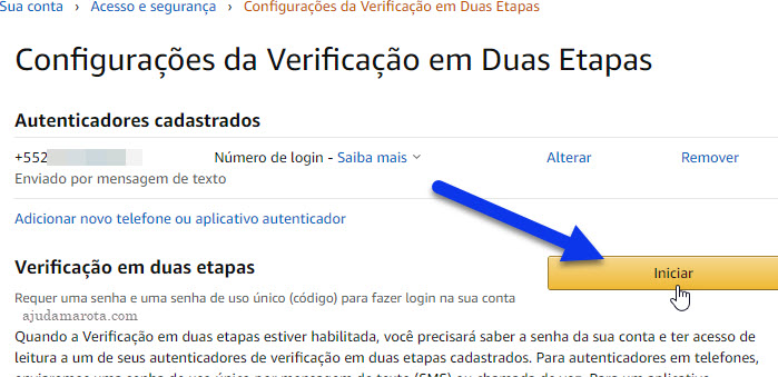 Como ativar verificação em dois passos na Amazon, duas etapas