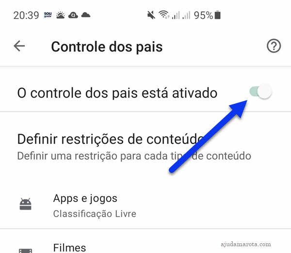 Como desativar controle de pais no Android pela Google Play